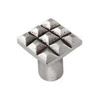 Vicenza Hardware - Tiziano - Small Square Cube Knob in Satin Nickel