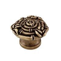 Vicenza Hardware - Palmaria - Bundled Round Bamboo Knob in Satin Nickel
