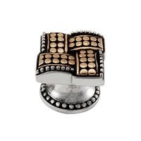 Vicenza Hardware - Medici - Two Tone Prestige Large Knob in Silver And Gold