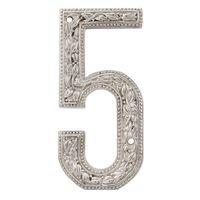 Vicenza Hardware - San Michele - 5 Number in Satin Nickel