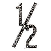 Vicenza Hardware - San Michele - 1/2 Number in Satin Nickel