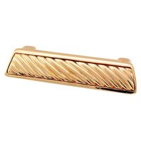 """Vicenza Hardware - Sanzio - 3"""" Centers Wavy Lines Cup Pull in Satin Nickel"""