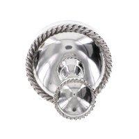 Vicenza Hardware - Equestre - Robe Hook in Satin Nickel