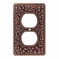Vicenza Hardware - San Michele - Single Outlet Jumbo Switchplate in Satin Nickel