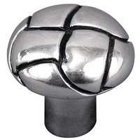"Vicenza Hardware - Equestre - 1 1/8"" Button Knob in Satin Nickel"