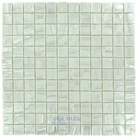 "Vidrepur - Moon - 1"" x 1"" Recycled Glass Tile on 12 3/8"" x 12 3/8"" Mesh Backed Sheet in Venus"