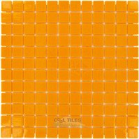 "Vidrepur - Colors - 1"" x 1"" Colors Recycled Glass Tile in Orange Burst"