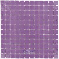 "Vidrepur - Colors - 1"" x 1"" Colors Recycled Glass Tile in Purple Lila"