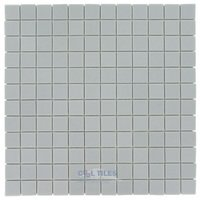 "Vidrepur - Essentials - 1"" x 1"" Recycled Glass Tile on 12 1/2"" x 12 1/2"" Mesh Backed Sheet in Light Gray"