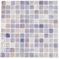 Vidrepur - Nieblas - Recycled Glass Tile Mesh Backed Sheet in Fog Purple