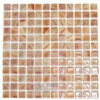 Vidrepur - Special - Recycled Glass Tile Mesh Backed Sheet in Brushed Peach Iridescent