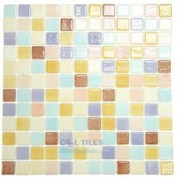 Vidrepur - Special - Recycled Glass Tile Mesh Backed Sheet in Pastel Mix