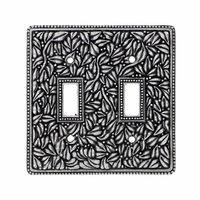 Vicenza Hardware - San Michele - Double Toggle Jumbo Switchplate in Satin Nickel