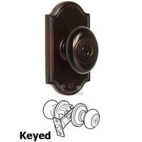 Weslock Door Hardware - Elegance Julienne Knobs - Keyed Knob - Premiere Plate with Julienne Door Knob in Oil Rubbed Bronze
