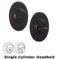 Weslock Door Hardware - Elegance Oval Deadbolts - Oval Single Deadbolt Lock in Oil Rubbed Bronze
