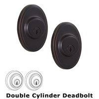 Weslock Door Hardware - Elegance Oval Deadbolts - Oval Single Deadbolt Lock in Oil Rubbed Bronze