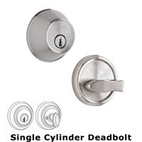 Weslock Door Hardware - Essentials 371 Deadbolts - Model 371 Single Deadbolt Lock in Bright Chrome