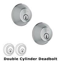 Weslock Door Hardware - Essentials 371 Deadbolts - Model 371 Single Deadbolt Lock in Bright Chrome