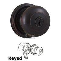 Weslock Door Hardware - Traditionale Impresa Knobs - Impresa Keyed Door Knob in Oil Rubbed Bronze