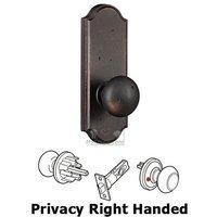 Weslock Door Hardware - Molten Bronze Wexford Knobs - Privacy Knob - Sutton Plate with Wexford Door Knob in Oil Rubbed Bronze