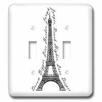 Jazzy Wallplates - Quotes - Double Toggle Switch Plate With Paris Dream Bigger