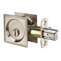 Yale Hardware - Yale Edge - Passage  Pocket Door Lock Square in Satin Nickel