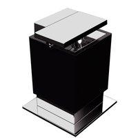 "Zen Designs - One - Soap Dispenser W 3 1/2"" x D 3 3/4"" x H 4 3/4"" in Black"