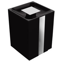 "Zen Designs - One - Waste Bin 1.3 Gallon W 6 1/2"" x D 6 1/2"" x H 10 3/8"" in Black"