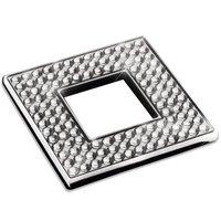"Zen Designs - Diamond - Square Knob Width 2 3/8"" x Height 2 3/8"" in Polished Chrome With Swarovski Crystals"