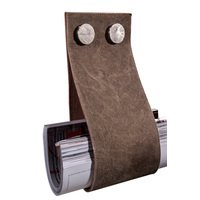 "Zen Designs - Garage - Magazine Holder W 5 3/4"" x H 12 5/8"" in Brown Leather"