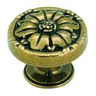 """Amerock - Natural Elegance - Burnished Flower Brass Knob 1 11/32"""""""