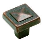 "Amerock - Forgings - Rustic Bronze Pyramid Knob 1 1/8"""