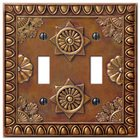 Amerelle Wallplates - Amiens - Resin Double Toggle Wallplate in Copper