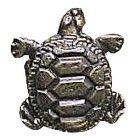 Novelty Hardware - Wildlife - Turtle Knob in Antique Brass