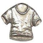 T-Shirt Knob in Antique Bright Brass