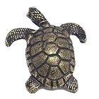 Turtle Facing Right Knob in Antique Bright Brass