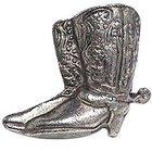 Cowboy Boots Knob in Antique Matte Silver
