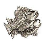Emenee - Nautical - School of Fish Right Knob in Antique Bright Silver