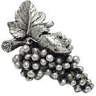 Grapes Knob in Warm Pewter