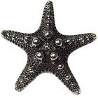 Emenee - Sea Life - Sea Star Knob in Antique Bright Silver