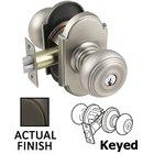 Emtek Hardware - Keyed Knobs and Levers Hardware - Keyed Waverly Knob With #8 Rose in Oil Rubbed Bronze