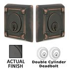 Arts and Crafts Double Cylinder Deadbolt in Flat Black