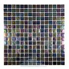 "HotGlass - Tivoli - 3/4"" Glass Tile in Indigo Blend 12 7/8"" x 12 7/8"" Mesh Backed Sheet"