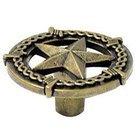 Wild Western Hardware - Antique Brass - Ornamental Star Knob in Antique Brass