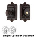 Nostalgic Warehouse - Single Deadbolt - Egg & Dart Deadbolt in Timeless Bronze