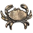 Novelty Hardware - Tropical - Crab Knob in Antique Brass