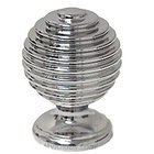 "Omnia Classic and Modern 1 3/16"" Astro Knob in Polished Chrome"