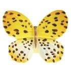 Siro Designs - Butterfly - Yellow with Brown Dots and Stripes Butterfly Knob