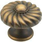 "Schaub and Company - Casual Elegance - 1 3/8"" Diameter Knob in Redington Brass"