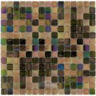 "Vicenza Mosaico Glass Tiles - Mosaic Blends 3/4"" - Film-Faced Sheets in Love"